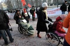 """""""Jestem niepełnosprawny, jestem głodny"""". Protest rodziców niepełnosprawnych dzieci"""