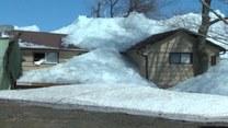 """""""Ściana lodu"""" zaatakowała miasteczko"""