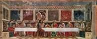 Andrea del Castagno, Ostatnia wieczerza, fresk w refektarzu klasztoru Santa Apollonia, Florencja /Encyklopedia Internautica
