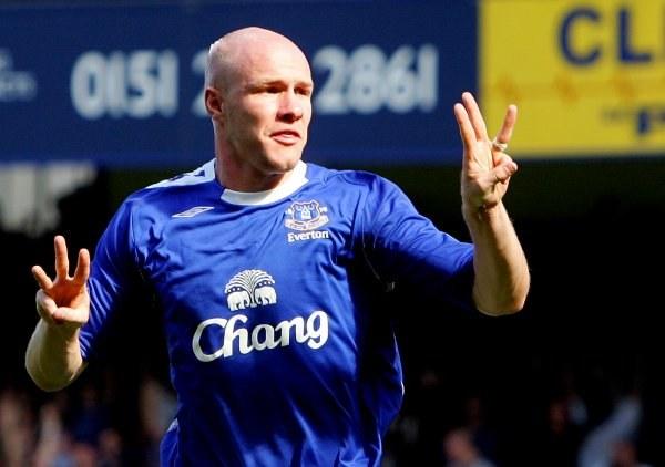 Andrew Johnson z Evertonu strzelił już pięć goli w tym sezonie Premiership /AFP