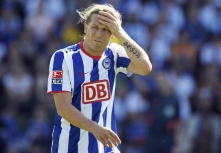 Andrij Woronin ma za sobą udany sezon w barwach Herthy. /AFP