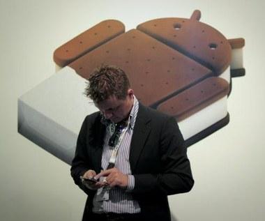 Android 4.0 jest  mało popularny