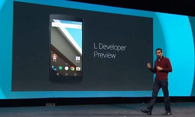 Android L podczas prezentacji na Google I/O /materiały prasowe