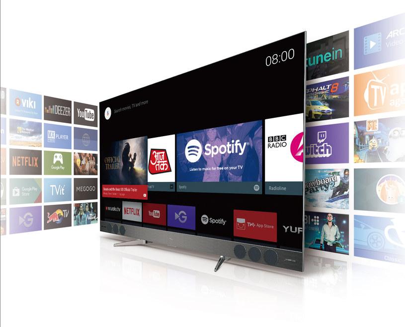 Android TV w wersji na QLED marki TCL /materiały prasowe
