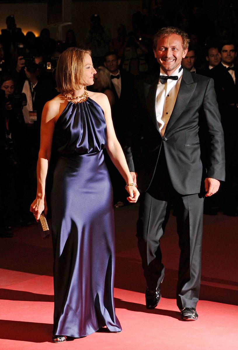 Andrzej Chyra i Jodie Foster na czerwonym dywanie  w Cannes  /Getty Images/Flash Press Media