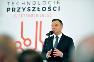 Andrzej Duda: Auta elektryczne pojadą na polskim węglu
