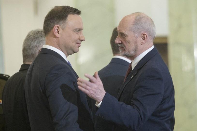 Andrzej Duda i Antoni Macierewicz /Wojciech Olkuśnik /East News