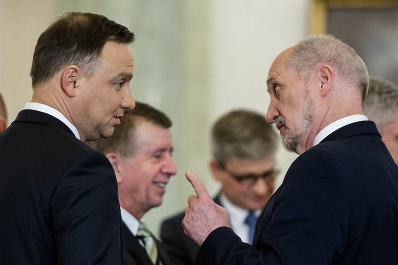 Andrzej Duda i Antoni Macierewicz /Rafał Oleksiewicz /Reporter