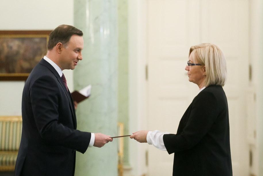 Andrzej Duda i Julia Przyłębska /Paweł Supernak  (PAP) /PAP