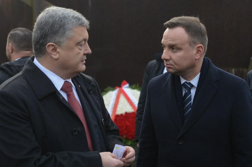 Andrzej Duda i Petro Poroszenko /Jakub Kamiński   /PAP
