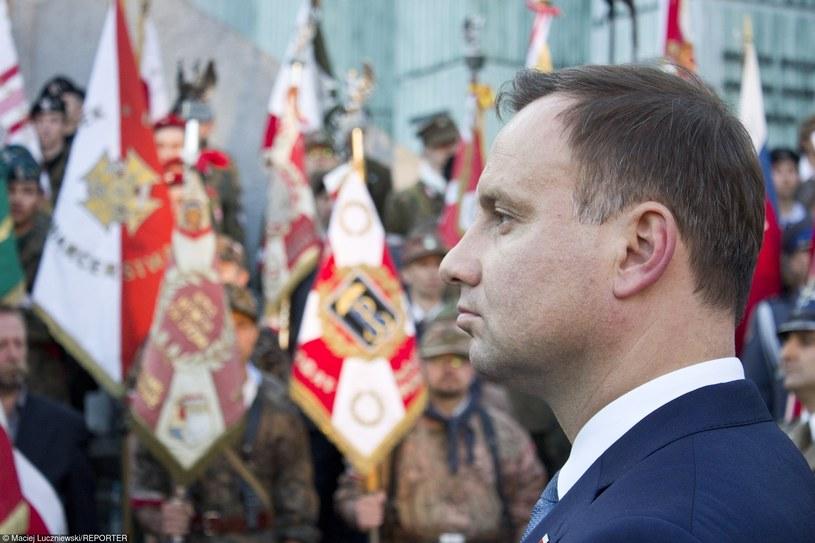 Andrzej Duda podczas obchodów 71. rocznicy wybuchu Powstania Warszawskiego /Maciej Luczniewski/REPORTER /East News