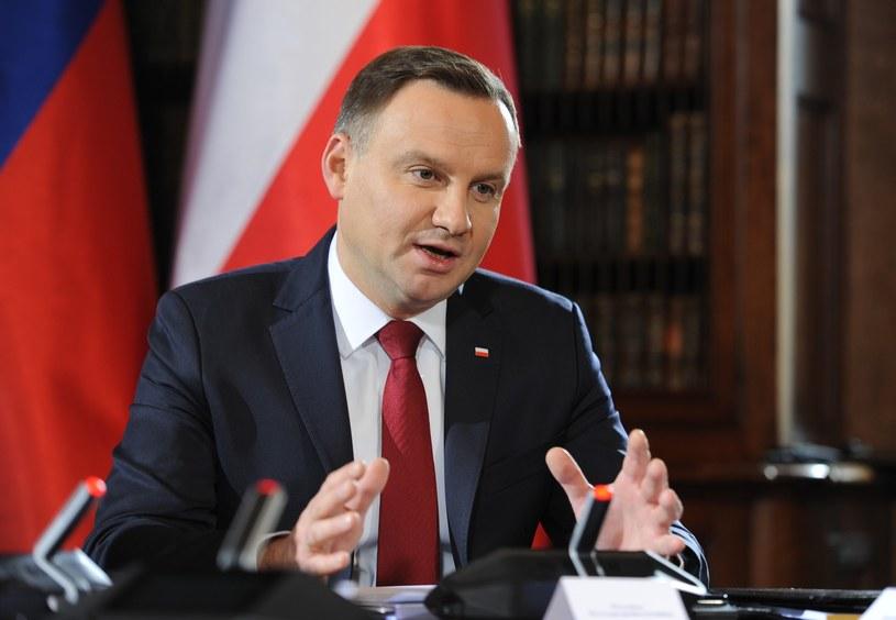 Andrzej Duda podczas szczytu prezydentów państw V4 /LUKASZ SOLSKI /East News