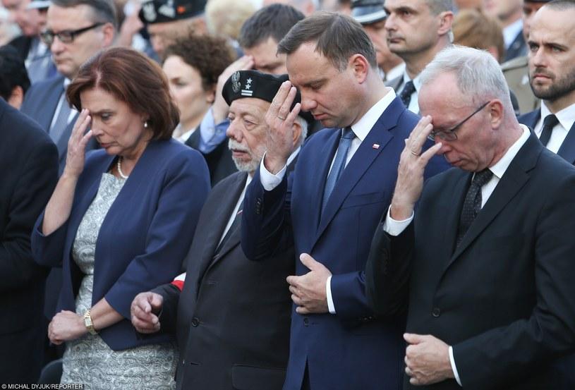 Andrzej Duda podczas uroczystości zwiazanych z obchodami 71 rocznicy Powstania Warszawskiego /Michal Dyjuk/Reporter /East News