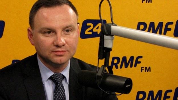 Andrzej Duda w Kontrwywiadzie RMF FM. /RMF24