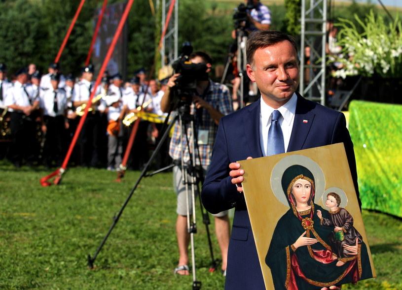 Andrzej Duda w Rychwałdzie /Andrzej Grygiel /PAP