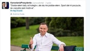 Andrzej Duda włącza się do akcji #witajwklubie
