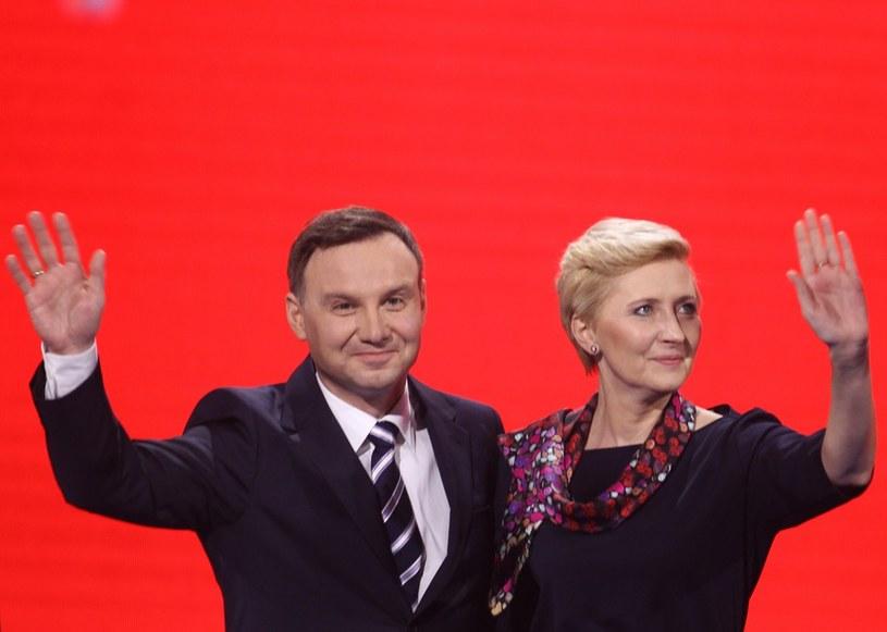 Andrzej Duda z żoną /Stanisław Kowalczuk /East News