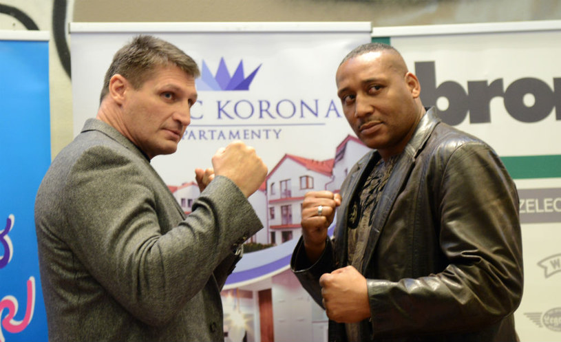 Andrzej Gołota (z lewej) i Danell Nicholson /Fight Night 9 /materiały promocyjne