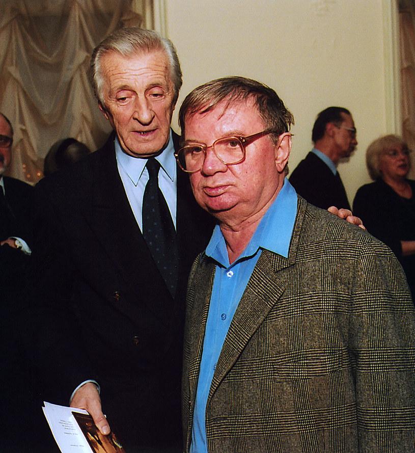 Andrzej Kopiczyński i Roman Kłosowski w 2001 roku /Prończyk /AKPA
