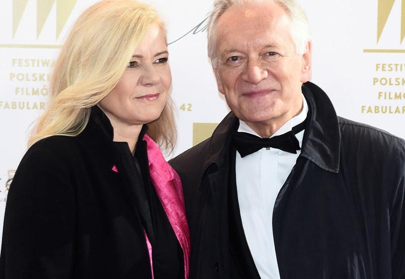 Andrzej Seweryn z żoną /Andras Szilagyi /MWMedia