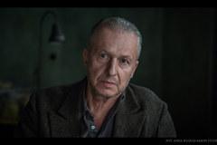 """Andrzej Wajda na planie filmu """"Powidoki"""""""