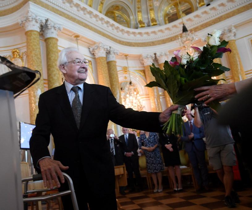 Andrzej Wajda (na zdj.) i prof. Samsonowicz otrzymali tytuł honorowego obywatela Warszawy /Radek Pietruszka /PAP