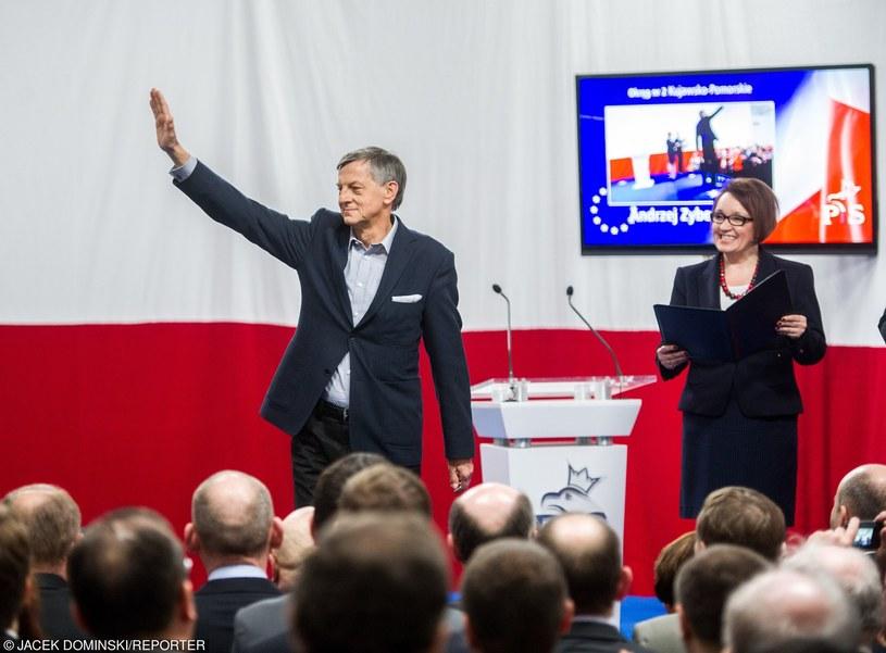 Andrzej Zybertowicz na wiecu PiS /Jacek Domiński /Reporter