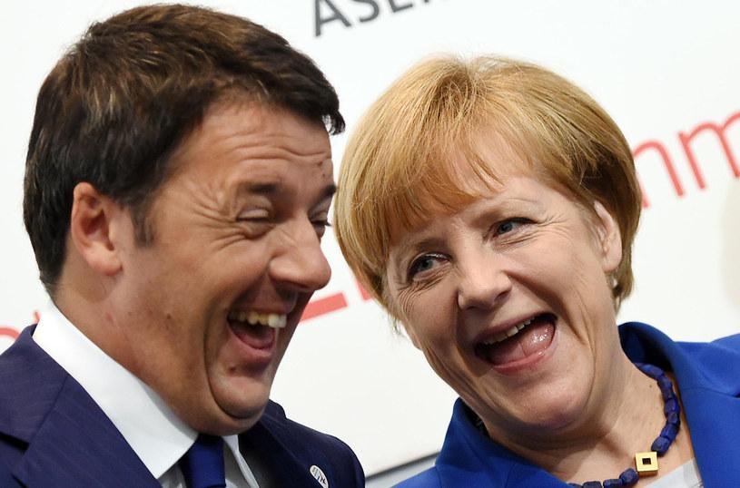 Aneglea Merkel i Matteo Renzi /AFP