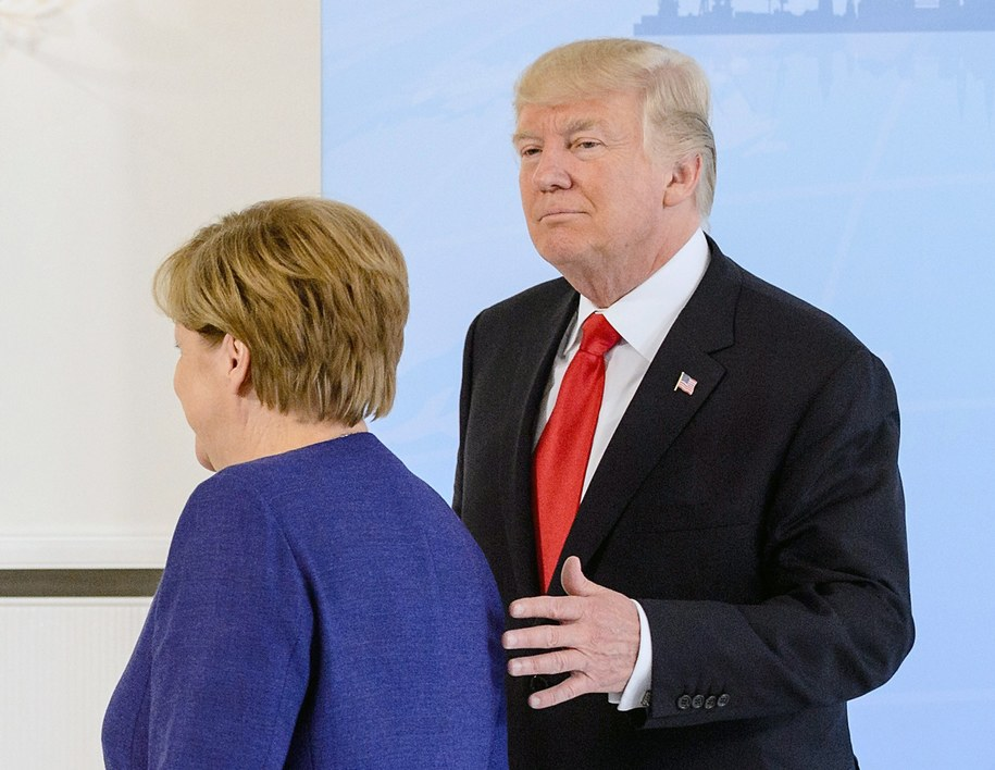 Angela Merkel i Donald Trump /JENS SCHLUETER / POOL /PAP/EPA