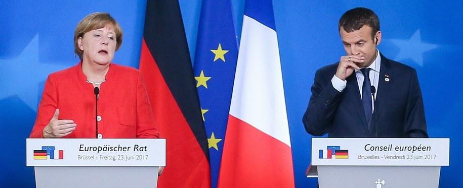 Angela Merkel i Emmanuel Macron /PAP/EPA/STEPHANIE LECOCQ /PAP/EPA