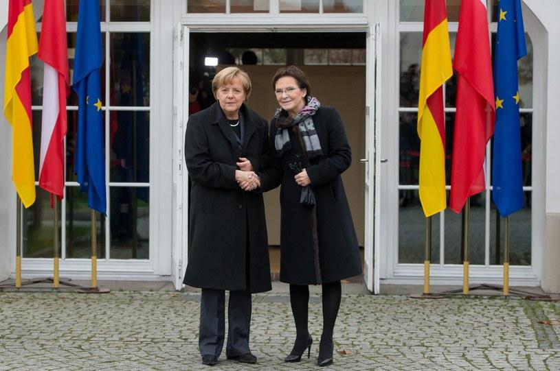 Angela Merkel i Ewa Kopacz /Maciej Kulczyński /PAP