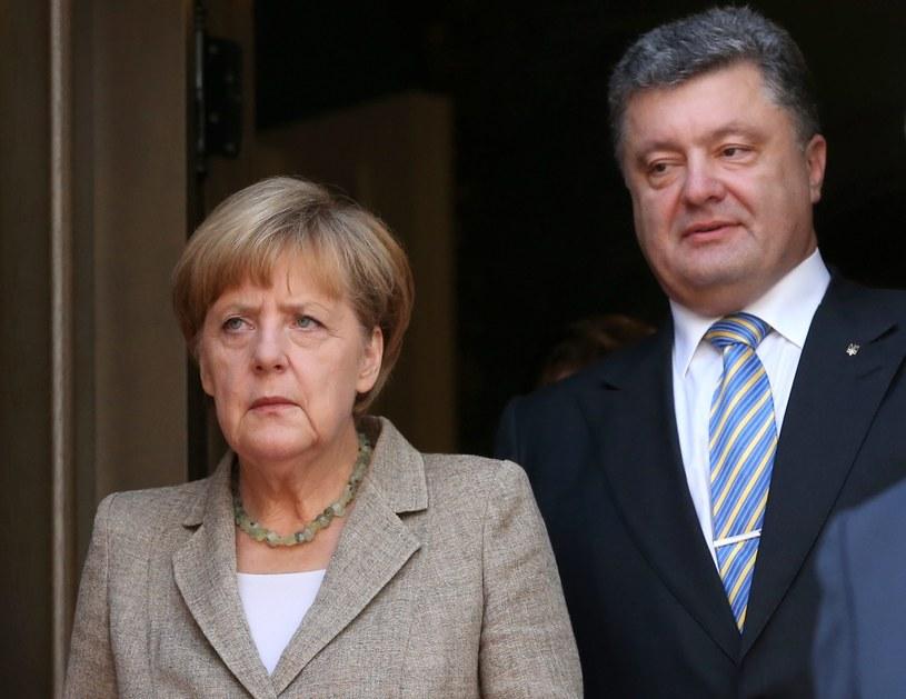 Angela Merkel i Petro Poroszenko /BERND VON JUTRCZENKA /PAP/EPA
