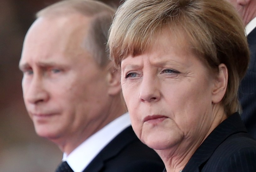Angela Merkel i Władimir Putin /Sean Gallup /Getty Images