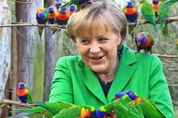 Angela Merkel jeździła kiedyś golfem /AFP