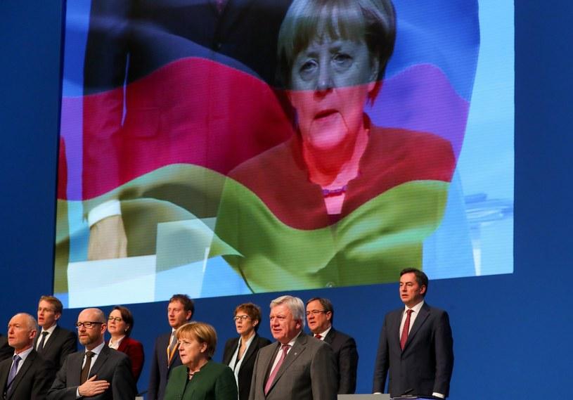 Angela Merkel na zjeździe CDU /PAP/EPA