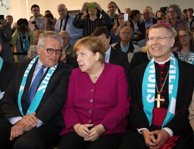 Angela Merkel na Zjeździe Katolików /FOCKE STRANGMANN /PAP/EPA