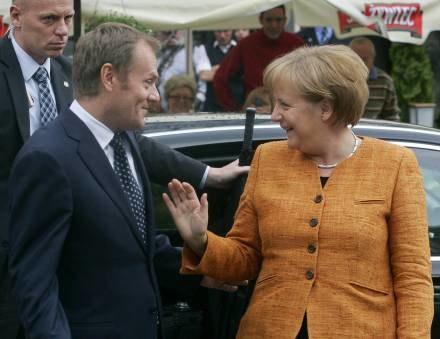 Angela Merkel przybyła z kilkugodzinną wizytą do Gdańska /AFP