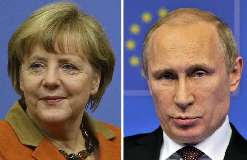 Angela Merkel rozmawiała z Władimirem Putinem o sytuacji na Ukrainie /AFP