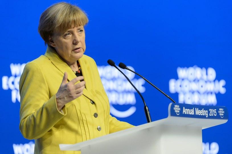 Angela Merkel w Davos /PAP/EPA