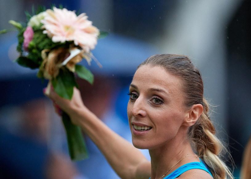 Angelika Cichocka na mecie biegu na 1500 metrów kobiet, podczas 20. lekkoatletycznego mityngu Grand Prix Sopotu im. Janusza Sidły /Adam Warżawa /PAP