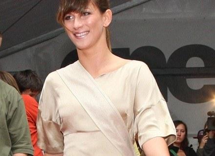 Ania Bosak w ekologicznej sukience Odzieżowego Pola /materiały prasowe