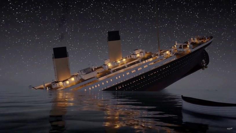 Animacja prezentująca zatonięcie Titanica /Ferrari Press Agency / Titanic Honor and Glory /East News