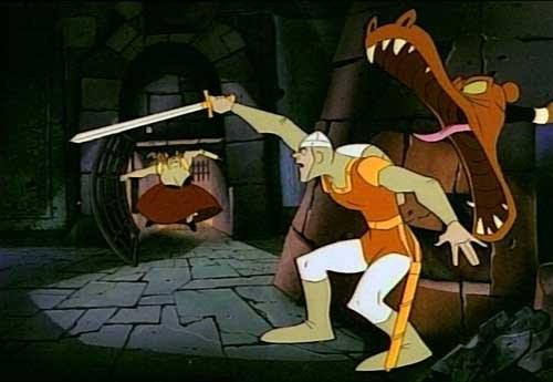 Animowana gra Dragon's Lair była zapowiedzią nowego trendu w grach /Informacja prasowa