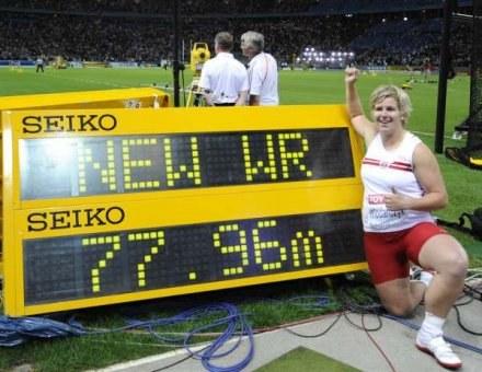 Anita Włodarczyk chce zdobyć medal na igrzyskach w Londynie w 2012 roku /AFP