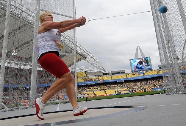 Anita Włodarczyk podczas mistrzostw świata w Daegu /AFP