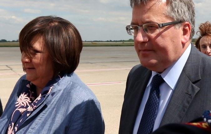 Anna i Bronisław Komorowscy /Radek Pietruszka /PAP