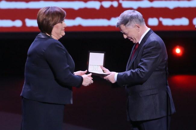 Anna Komorowska i Jan Miodek /PAP/Rafał Guz /PAP