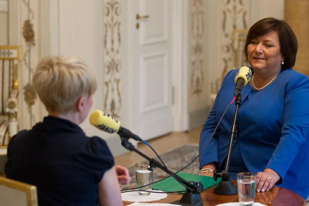 Anna Komorowska w trakcie rozmowy z Agnieszką Burzyńską /Kancelaria Prezydenta RP /