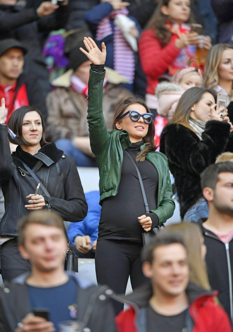 Anna Lewandowska nawet w końcowym etapie ciąży pozostaje bardzo aktywna i do tego namawia też swoje fanki /imago sportfotodienst /East News
