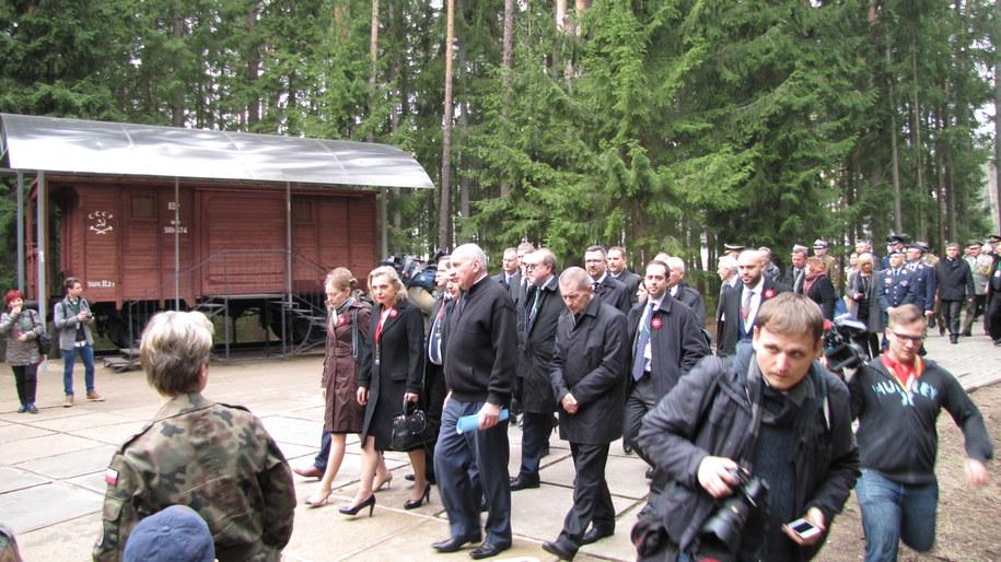 Anna Maria Anders i polska delegacja w Katyniu /Przemysław Marzec /RMF FM